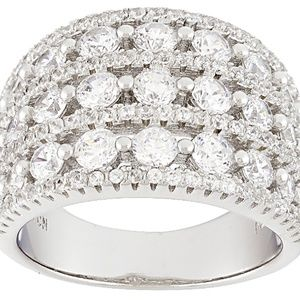 Jewelry - White Cubic Zirconia Rhodium Over Sterling Silver